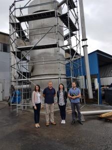 Bioreaktor KBT podczas budowy